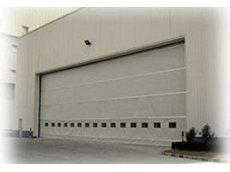 Industrial automatic fold up door