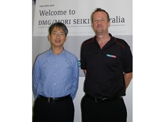 Stefan Weiwadel, DMG/ MORI SEIKI President (right) and Wada Tetsuji, Vice President and QCD Manager