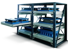 """AR"" series heavy duty retractable shelving systems"