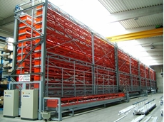 DynBar Automatic Storage System for Long Goods and Heavy Materials
