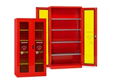 Safety cabinets for PPE and fire prevention equipment