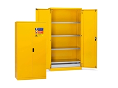 Safety cabinets for paints and solvents