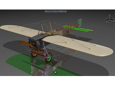 The Bleriot XI monoplane is one of the earliest civil aircraft to have been flown in Australia. (Graphic courtesy Dassault Systemes)