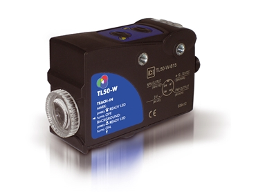 TL50 Series Contrast Sensor with RGB LED emission and plastic housing