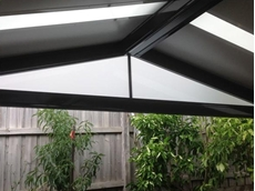 Pergola infills for gable ends