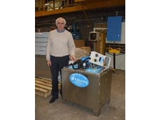 Kilkenny Cooling's Paddy Smee with one of his draught beer chiller units