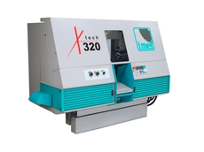 The X-TECH-320 CNC, a larger capacity bandsaw from Delaheny Machinery,