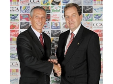 Bruce Herbert with Glen Borg at CCA Supplier of the Year Awards
