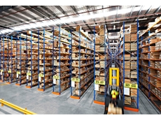 Australian made high density, narrow-aisle pallet racking installation