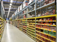 The racking was designed in a new yellow and silver colour scheme to ensure visual consistency across the stores