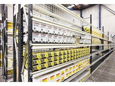Adjustable shelving systems with single-tier or high-rise formation