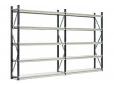 Steel shelving that can be easily configured to suit individual needs
