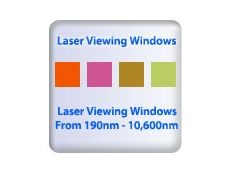 Laser safety windows and viewing ports for most laser types