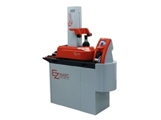 The EZset tool presetter features an ergonomic space saving, storage table for all of its accessories