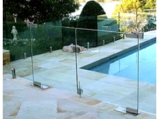 Frameless gates with hydraulic closer