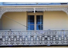 Wrought iron lacework