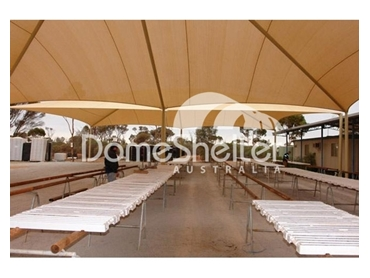 Commercial shade sails block out up to 98% of harmful UV rays