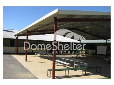 Shade structures built to suit are available in the full colorbond range
