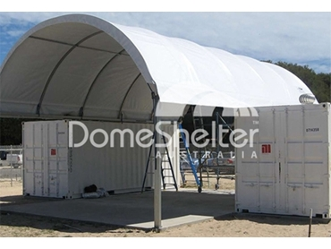Container Mounted Dome Shelter