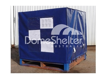 Fitted tarps for pallet cages