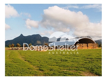 DomeShelter structures have been used since the 1990s for hay storage