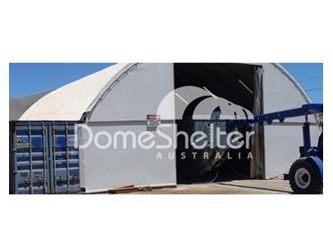DomeShelter Endwalls for wind management