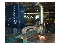 A PowerCore TG Series collector used to capture dust and fumes from plasma cutting