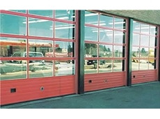 Aluminium sectional overhead industrial doors