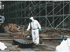 Tyvek suits reduce risks associated with handling asbestos