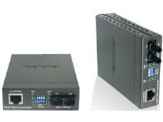 10/100Base-TX to 100Base-FX fibre multi-mode SC-type fibre converter
