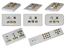 Clipsal custom AV wall plates