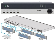 VM-4HDMI 1:4 HDMI distribution amplifiers now available from Dueltek Computer Products