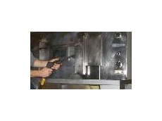 Commercial oven cleaning equipment