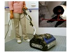 Tile floor cleaning equipment
