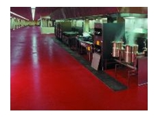 The 33m long anti-slip floor by Dynamic Flooring at Caterair's Sydney catering centre.