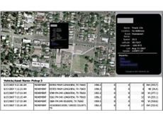 A RouteVision delivery management and vehicle tracking system scree shot