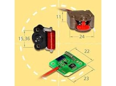 Unidirectional single-phase stepper motors.
