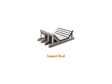 Impact beds and cradles reduce damage to belts and conveyor spillage