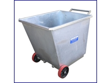 East West Engineerings' CFS6 portable tipping bins for transporting goods and waste products