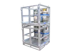GB-SC gas cylinder storage cages are designed to ensure safe transport of the cylinders