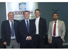 (L-R): Robert Dal Sasso, Ecotech Director, The Hon Ryan Smith, Steve Chamberlain-Ward, Manager, Sales Strategy and Marketing and Manoj Kumar, International Business Manager
