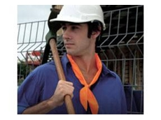 Elliotts' E-Cool range of vests, scarfs and helmets helps workers to keep cool and maintain concentration for safety and comfort in extreme heat conditions