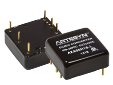 AXA series of 20W high power density DC-DC converters