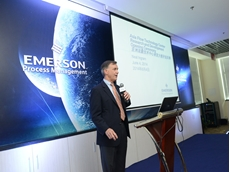 Neal Ingram, president of Emerson's precision flow measurement business at the opening of the new Nanjing facility