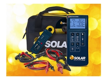 Intelligent Seaward Solar Install PV100 for precision solar PV measurements