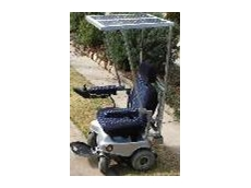 Solar powered wheelchair