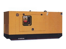 110kVA diesel generating set with super sound attenuated canopy