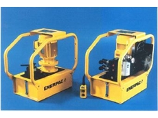 Enerpac GPEM-3420W and GPER-5420WFHL modular electric Hushh pumps.