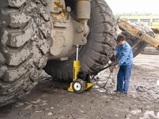 POW'R-RISER Lifting Jacks can assist in tyre maintenance on heavy equipment