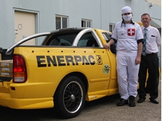 South West Hydraulics Managing Director Dave Clifford (right) and 'Doctor Dan' (Daniel Aggett, Repair Engineer at South West Hydraulics) with the Enerpac Doctor Ute